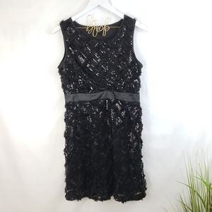 Forever Black Sequin Diamond Patterned Dress M